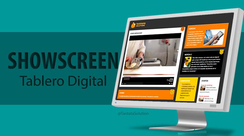 Un tablón de anuncios digital con SHOWSCREEN.