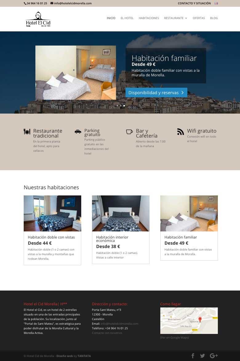 Páginas web para hoteles y hostales