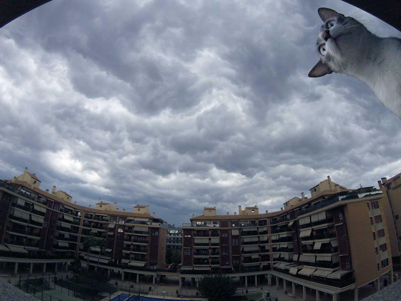 Time-lapse de la tormenta de ayer en Castellón